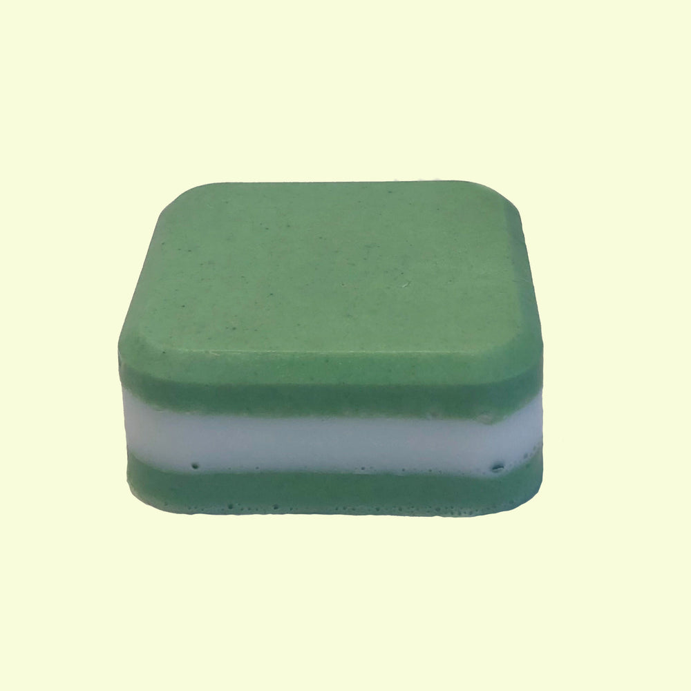 Handmade mini bar of soap made with peppermint essential oil