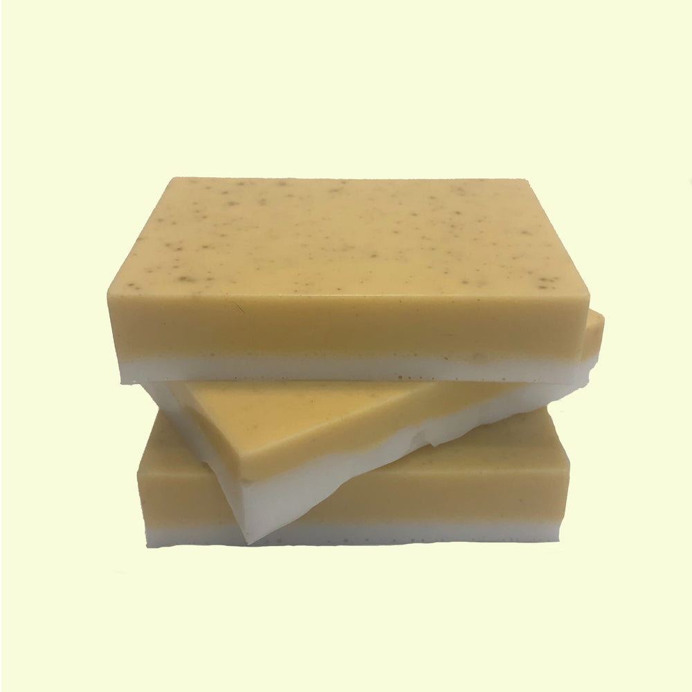 Handmade bar of soap made with Chamomile & Bergamot essential oil