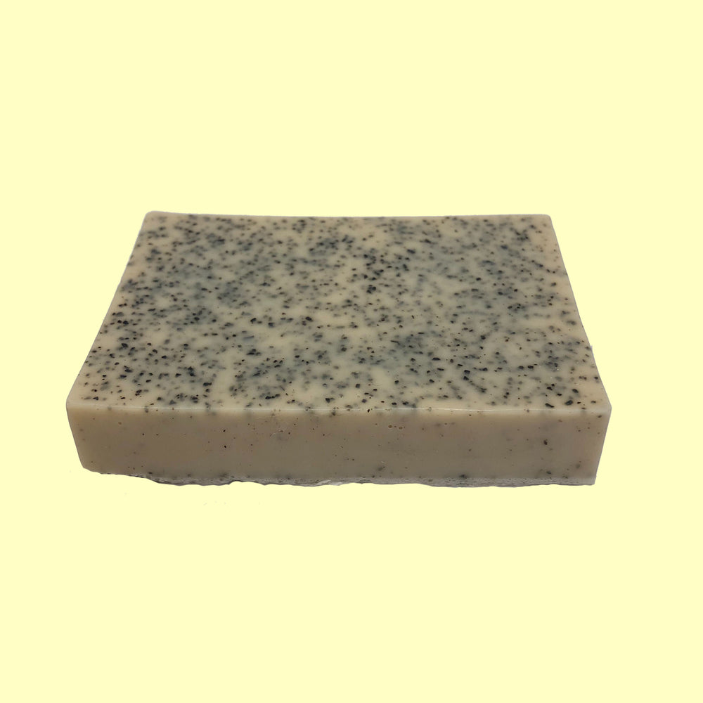 Handmade bar of soap made with Coffee Oil, Black Coffee & Coffee Grinds