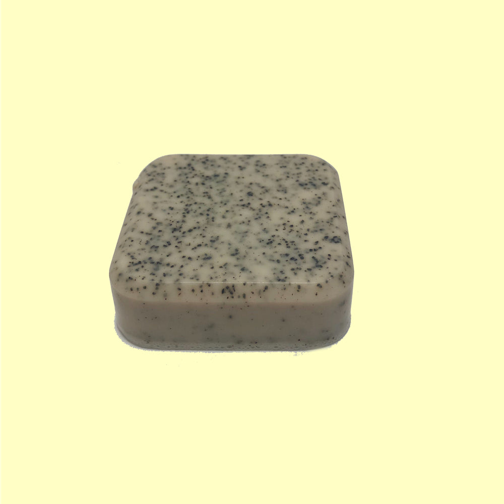 Handmade mini bar of soap made with Coffee Oil, Black Coffee & Coffee Grinds