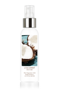 Coconut Nectar Fine Fragrance Perfume Mist by Body Exotics 3.5 Fl Oz 103 Ml