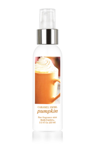 Caramel Swirl Pumpkin Fine Fragrance Perfume Mist by Body Exotics 3.5 Fl Oz 103 Ml