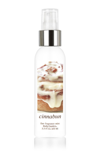 Cinnabun Fine Fragrance Perfume Mist by Body Exotics 3.5 Fl Oz 103 Ml
