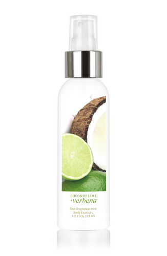 Coconut Lime & Verbena Fine Fragrance Perfume Mist by Body Exotics 3.5 Fl Oz 103 Ml