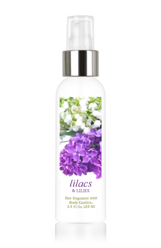 Lilacs & Lilies Fine Fragrance Perfume Mist by Body Exotics 3.5 Fl Oz 103 Ml