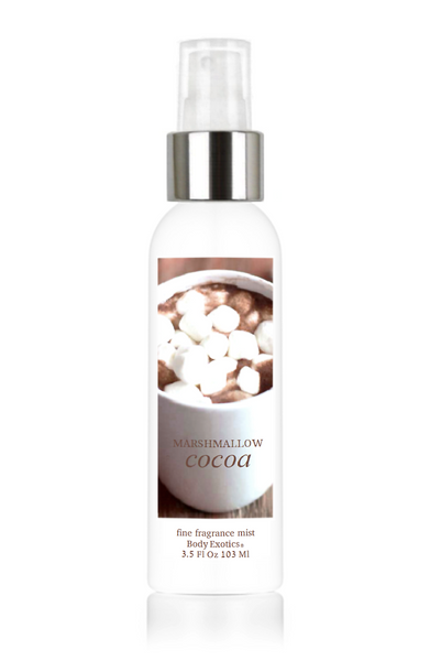 Marshmallow Cocoa Fine Fragrance Perfume Mist by Body Exotics 3.5 Fl Oz 103 Ml