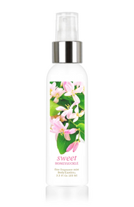 Sweet Honeysuckle Fine Fragrance Perfume Mist by Body Exotics 3.5 Fl Oz 103 Ml