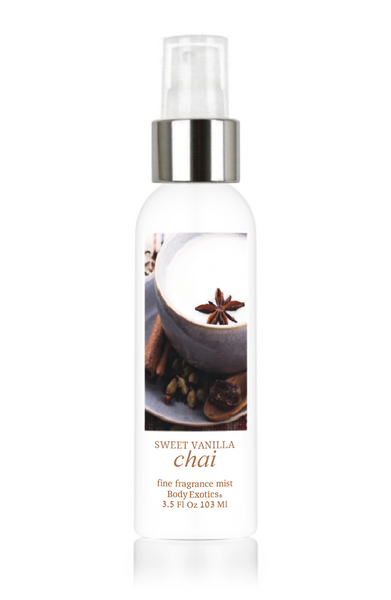 Sweet Vanilla Chai Fine Fragrance Perfume Mist by Body Exotics 3.5 Fl Oz 103 Ml