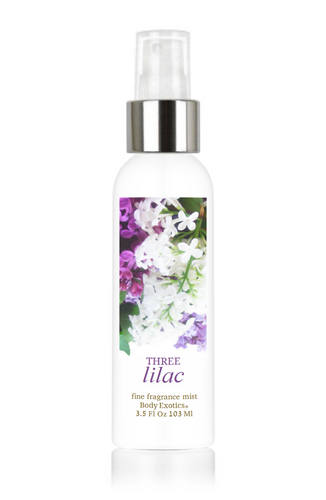 Three Lilac Fine Fragrance Perfume Mist by Body Exotics 3.5 Fl Oz 103 Ml