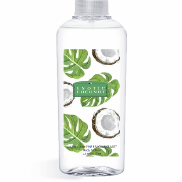 Exotic Coconut Fine Fragrance Perfume Mist by Sim Scents 2.5 Fl Oz 74 Ml
