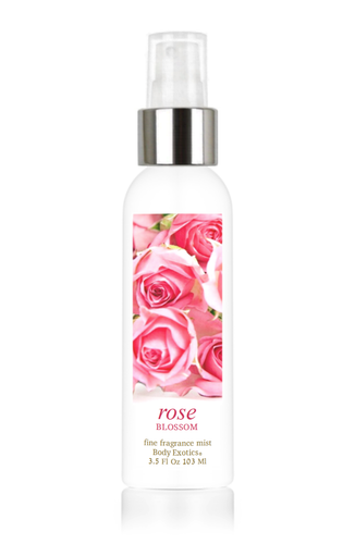 Rose Blossom Fine Fragrance Perfume Mist by Body Exotics 3.5 Fl Oz 103 Ml