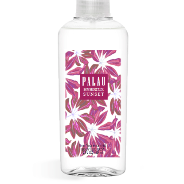 Palau Hibiscus Sunset Fine Fragrance Perfume Mist by Sim Scents 2.5 Fl Oz 74 Ml