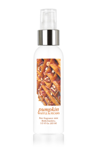 Pumpkin Waffle & Pecans Fine Fragrance Perfume Mist by Body Exotics 3.5 Fl Oz 103 Ml