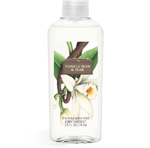Vanilla Bean & Teak Fine Fragrance Perfume Mist by Sim Scents 2.5 Fl Oz 74 Ml