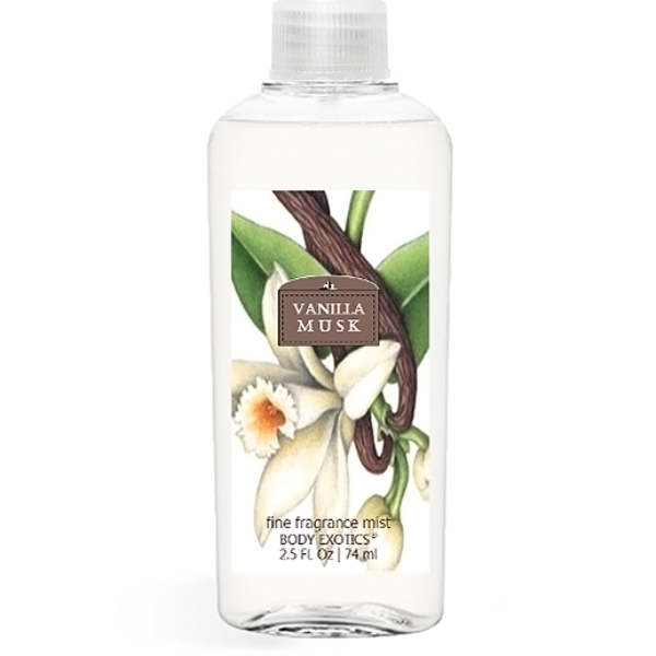 Vanilla Musk Fine Fragrance Perfume Mist by Sim Scents 2.5 Fl Oz 74 Ml