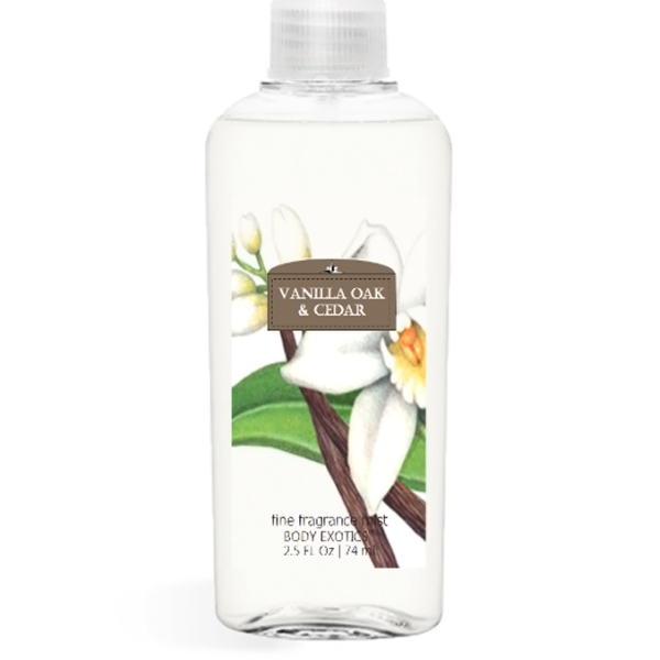 Vanilla Oak & Cedar Fine Fragrance Perfume Mist by Sim Scents 2.5 Fl Oz 74 Ml