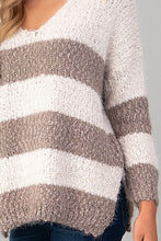Load image into Gallery viewer, Striped Eyelash Sweater