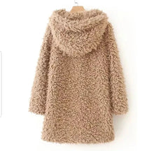 Load image into Gallery viewer, Hooded Teddy Bear Coat (2 colors)