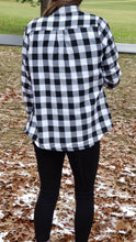 Load image into Gallery viewer, FLASH SALE! Cozy Lined Black&White Buffalo Flannel *1left!