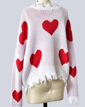 Load image into Gallery viewer, Sweetheart Distressed Sweater