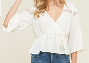 Sugar Splice Crop Blouse