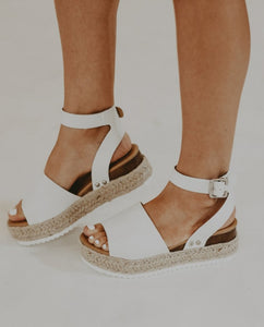 Epic Espadrille Wedge in Ivory