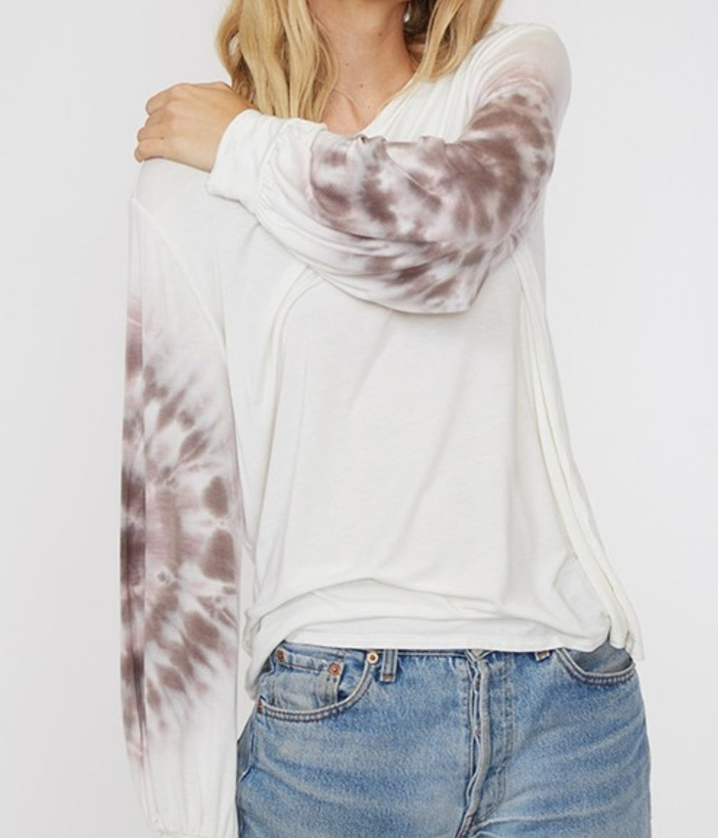 Zeppelin Tie Dye Sleeve Top