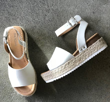 Load image into Gallery viewer, Epic Espadrille Wedge in Ivory