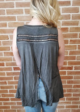 Load image into Gallery viewer, POL Charcoal Tribal Tank