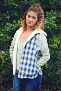 FLASH SALE: 2-in-1 Hooded Plaid Teddy Vest *2 left!