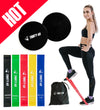 Gliding Discs Core Sliders and 5 Exercise Resistance Bands