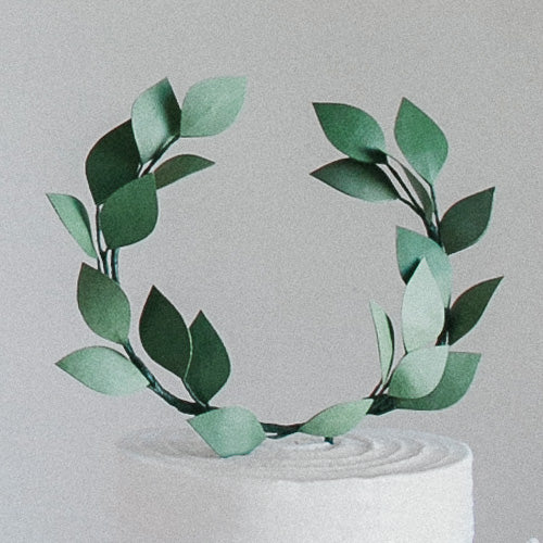 Ivy Wreath Cake Topper