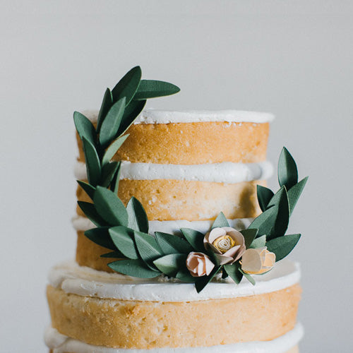 Modern Wreath Cake Topper