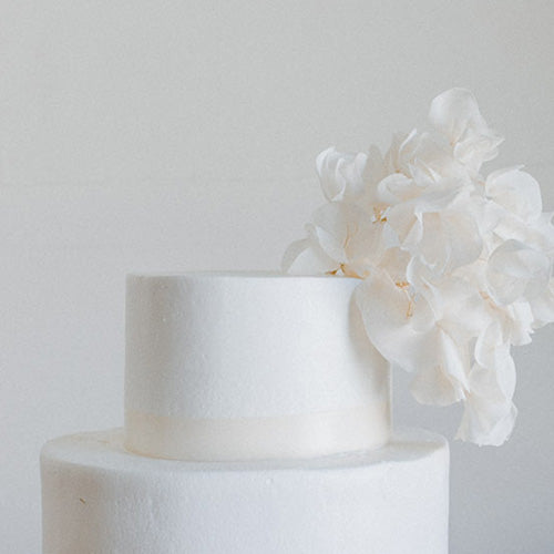 White Bougainvillea Cake Topper