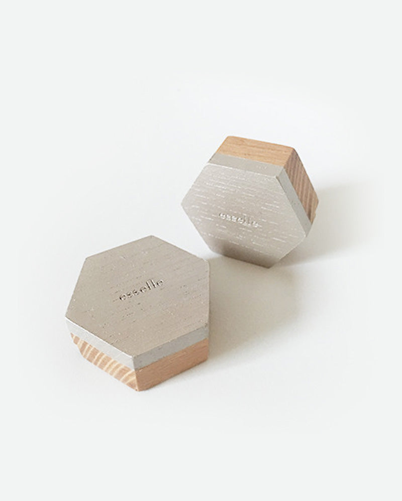Beech Hexagon Placecard Holders (Set of 6)