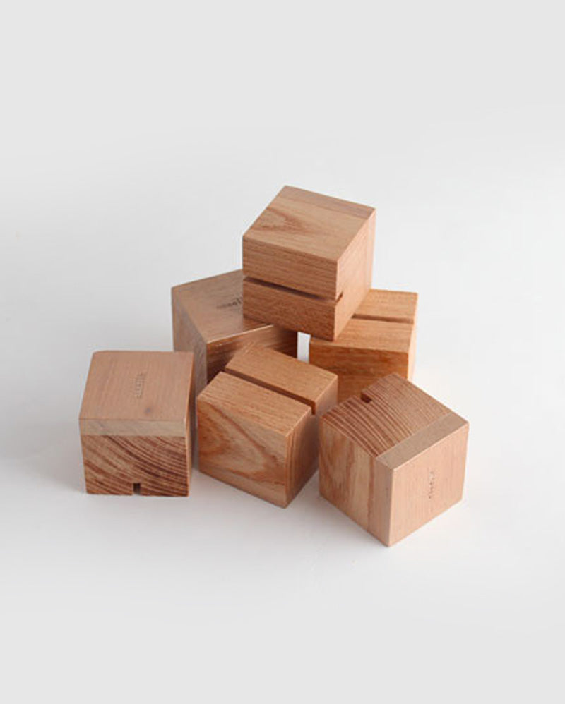 Beech Cube Placecard Holders (Set of 6)