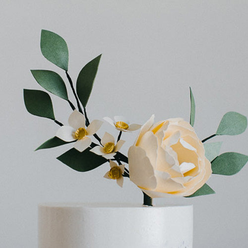 Paper Floral Crown Cake Topper