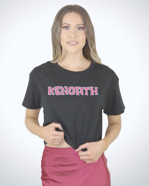 The Pink Sandman Logo - Womens Crop Tee