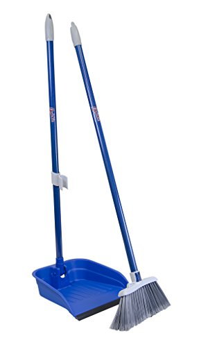 Quickie Stand & Store Lobby Broom and Dustpan Set