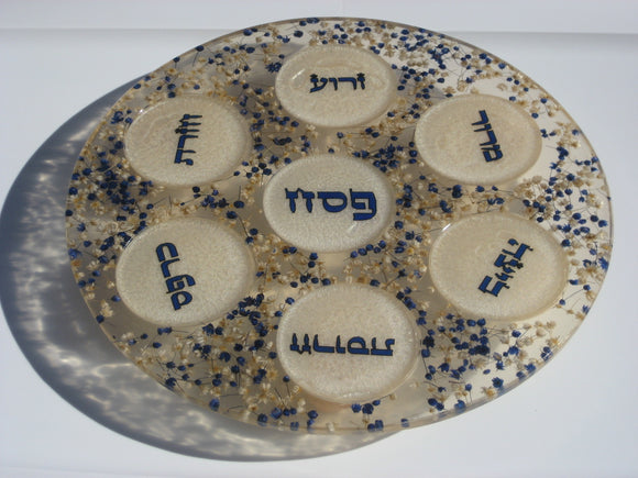 A&M Judaica Polyresin Seder Plate By Ronit Akavia ( Assorted Colors)