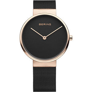 Bering Classic Collection Mesh Band Watch, Black / Gold