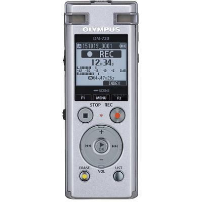 Olympus DM-720 4GB Digital Voice Recorder - Can transfer from sd card to recorder w/o a PC, 3.5x fast playback, forward & rewind - Factory Refurbished