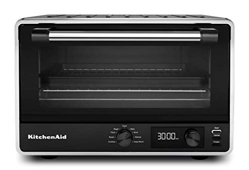 KitchenAid KCO211BM Digital Countertop Toaster Oven, with 9 Presets, Includes 9x13 Pan, Black Matte