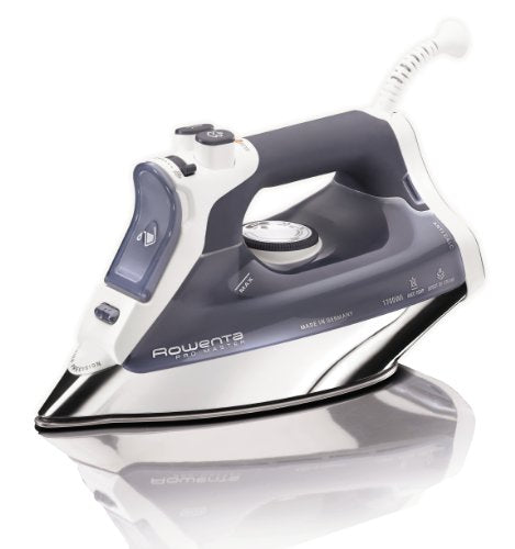 Rowenta DW8080 1700W Pro Master Iron Micro Steam Iron Stainless Steel Soleplate with Auto-Off, 400-Hole