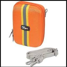 VidPro ACT-10 Hard Shell Digital Point-n-Shoot Camera Carry Case in ORANGE, 4