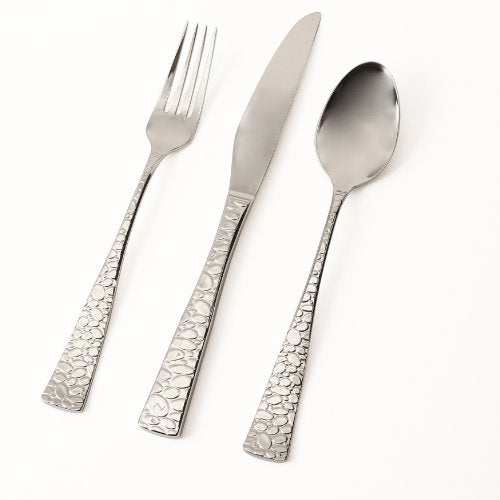 Hampton Forge Skandia Pebble Flatware (45 Pcs)