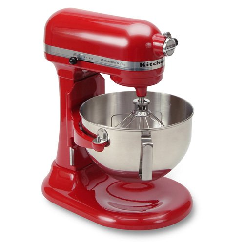 KitchenAid KV25G0XER Professional 5 Plus Series 5QT 450W 10 Speed Stand Mixer, Red STANDMIX