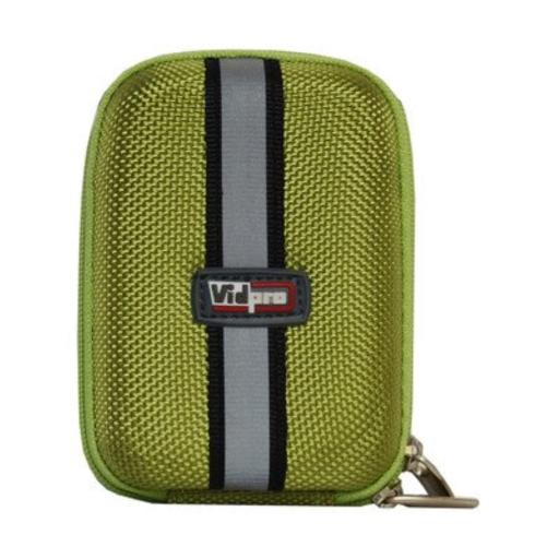 VidPro ACT-15 LARGE Hard Shell Digital Point-n-Shoot Camera Carry Case, Green - 4.75