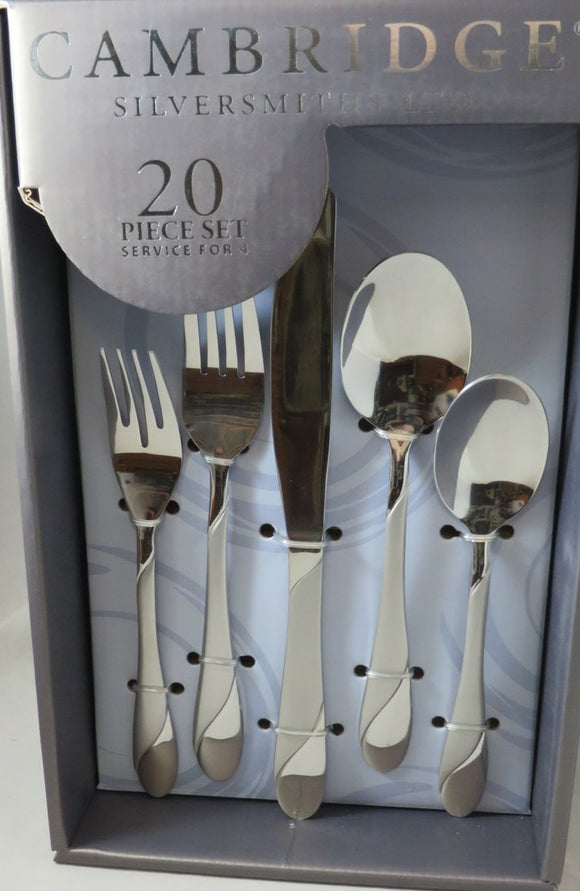 Cambridge Swirl Sand Flatware Set, 20 Piece, Service for 4