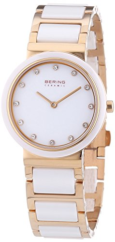 Bering Women's Ceramic Collection Watch, Gold / White
